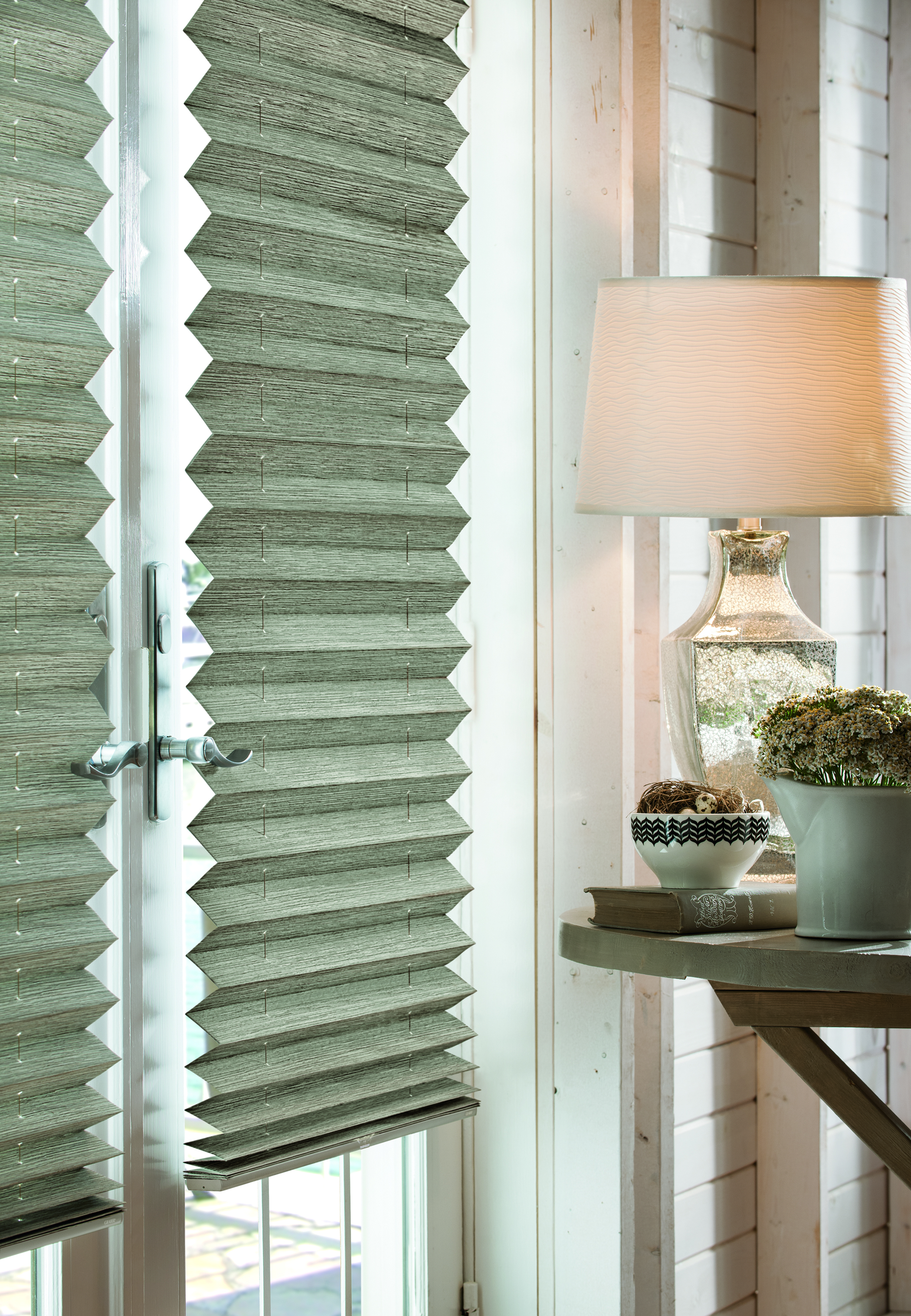 custom shades - pleated shades