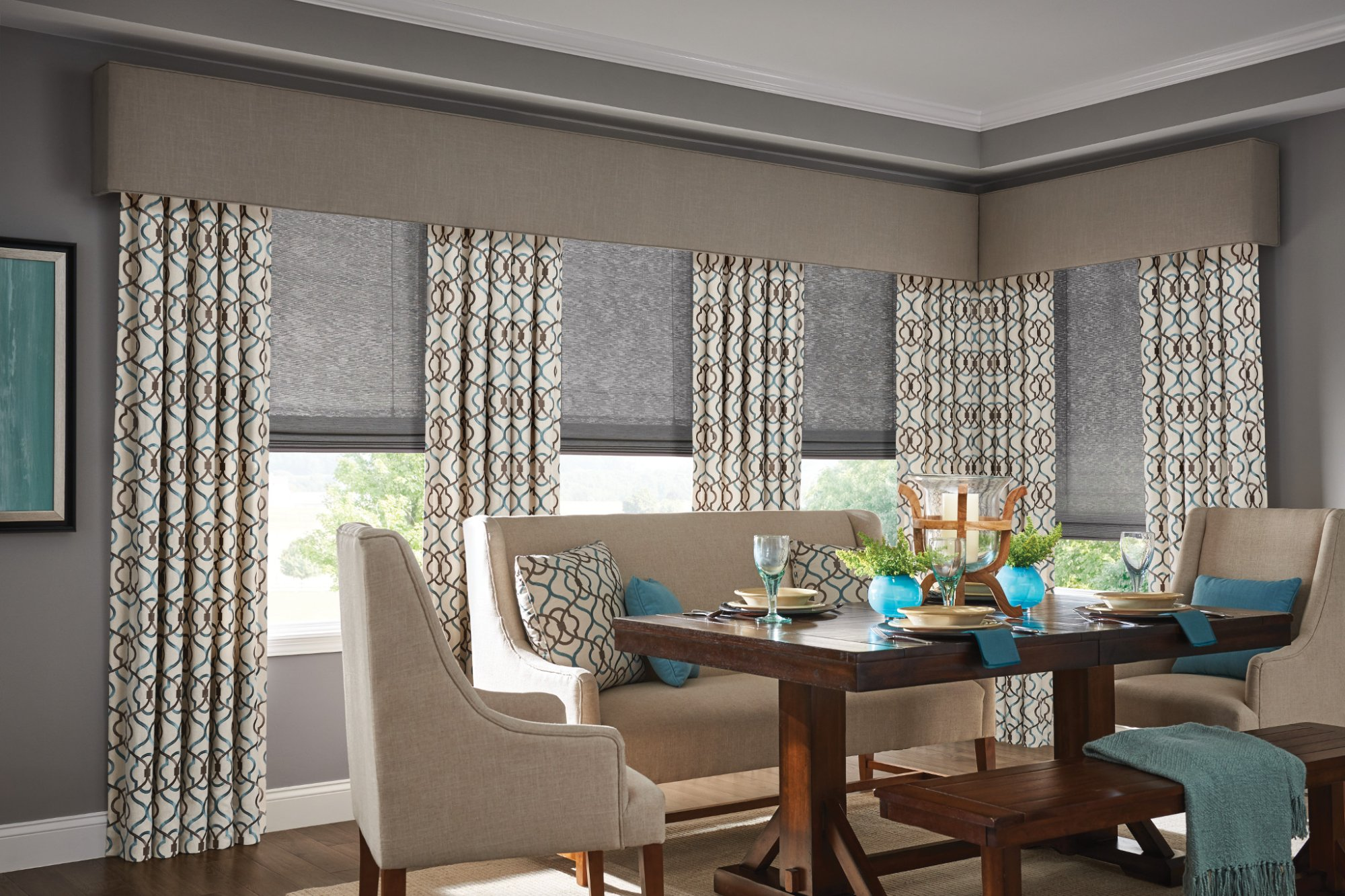 Solar Shades Dining Room