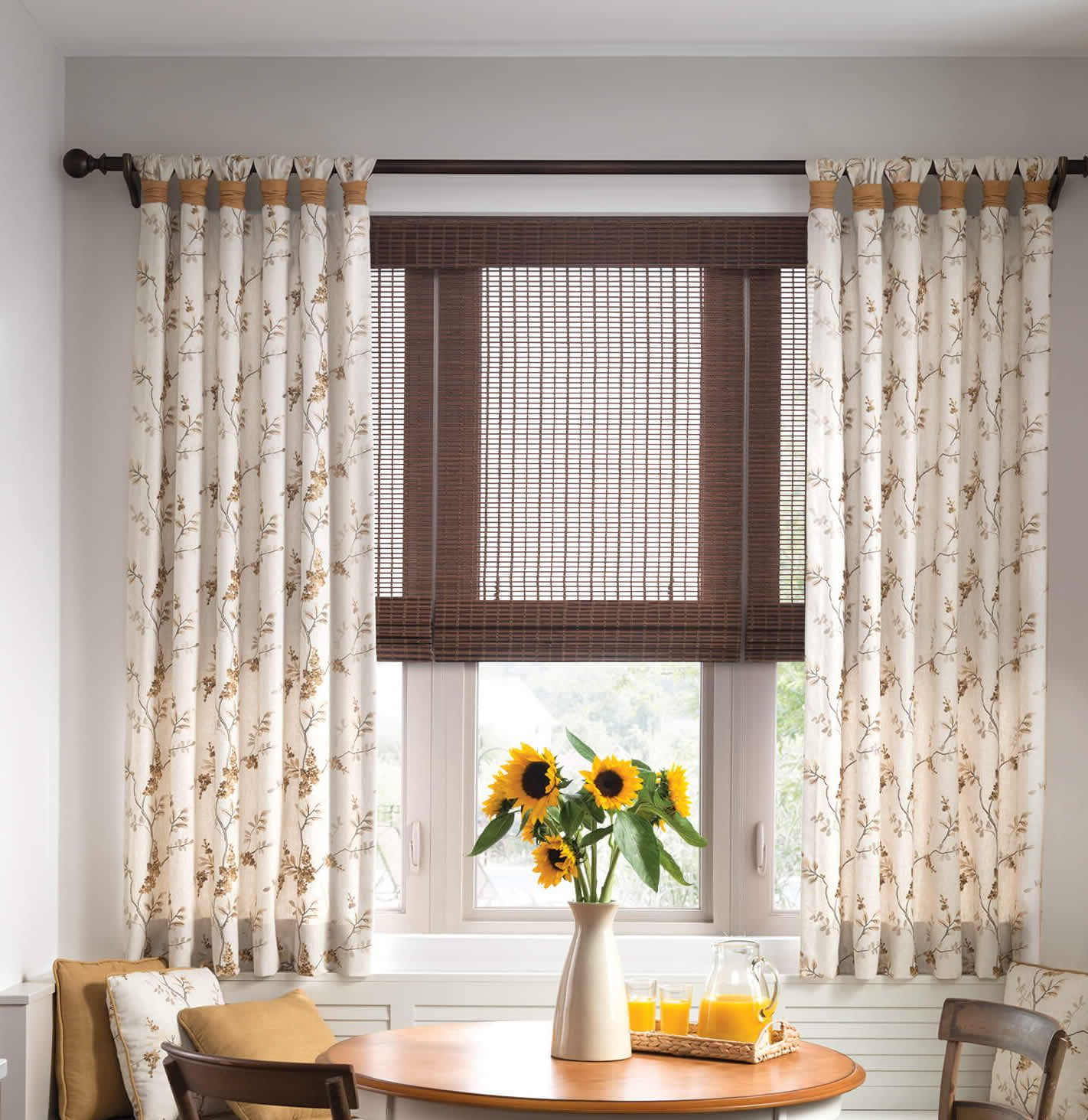 Roman shades and Drapes