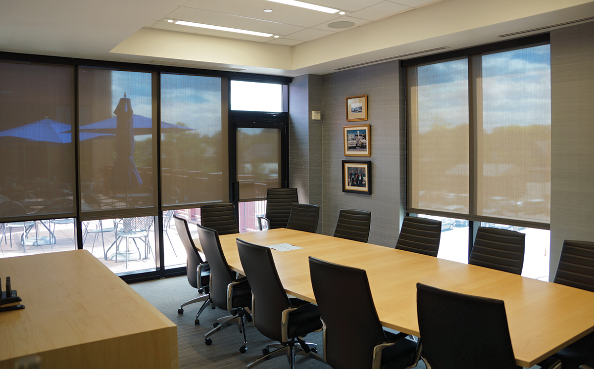 Conference Room with Solar Shades