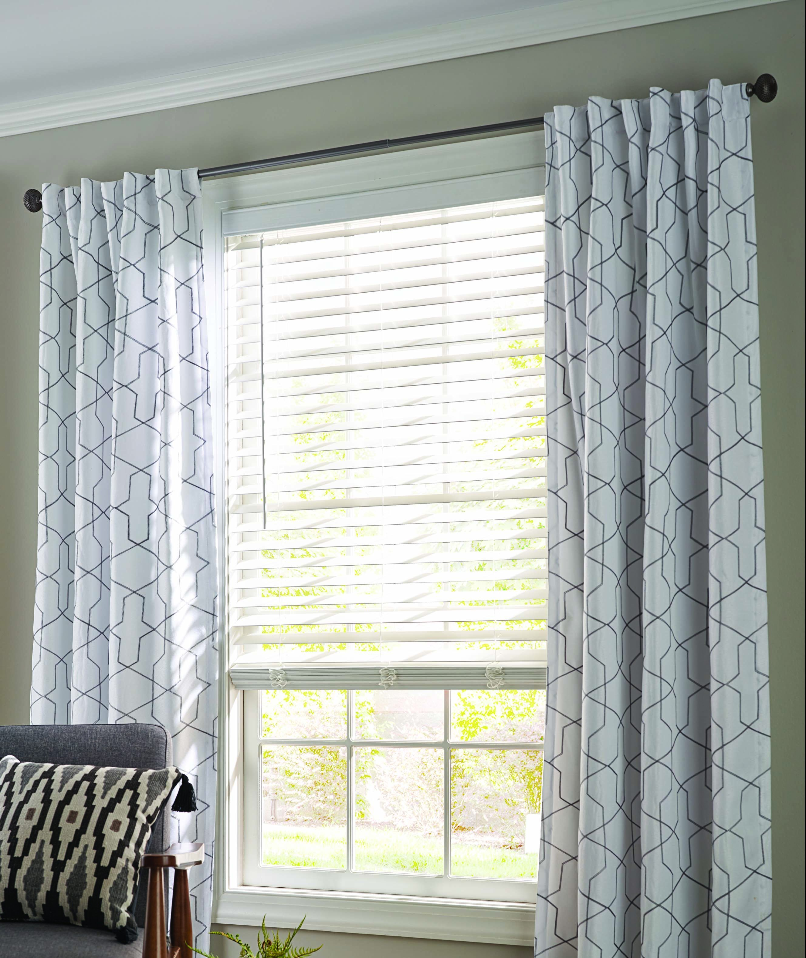 Faux Wood Blinds and Drapes